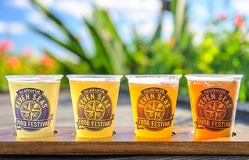 Beer Flight at Seaworld Seven Seas Food Festival