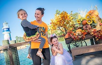 SeaWorld Orlando Lighthouse Entrance during Halloween Spooktacular