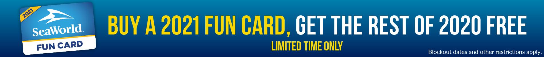 SeaWorld Orlando 2021 Fun Card