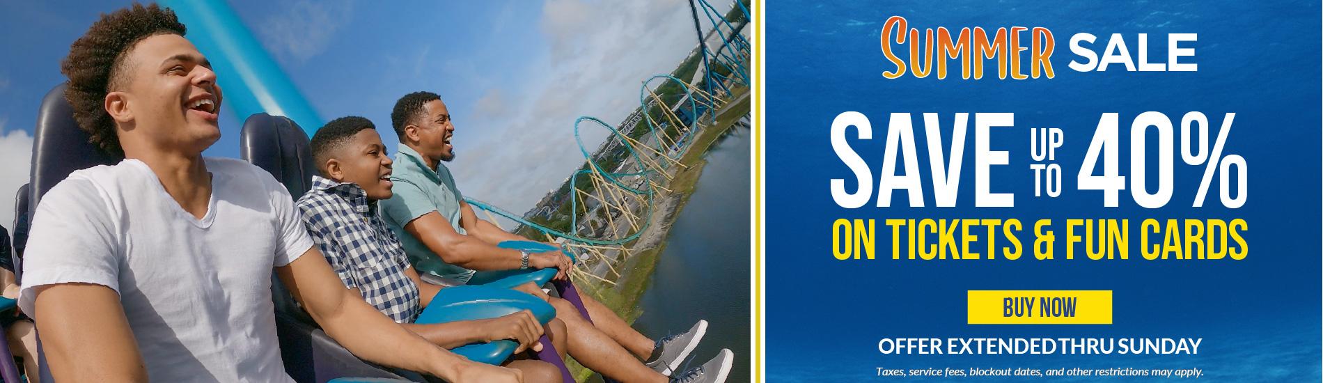 SeaWorld Orlando Summer Sale