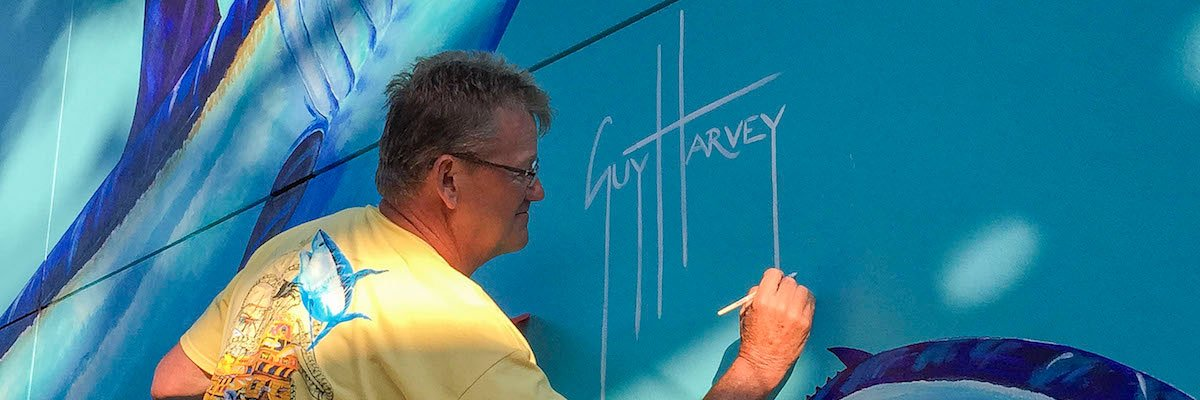 Guy Harvey paints an amazing Mako mural at SeaWorld Orlando