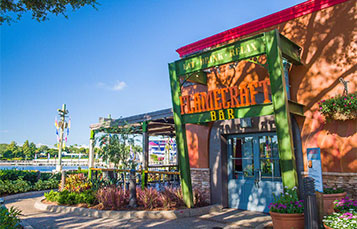 Grab some drinks and enjoy the relaxing scenery at Flamecraft Bar at SeaWorld.