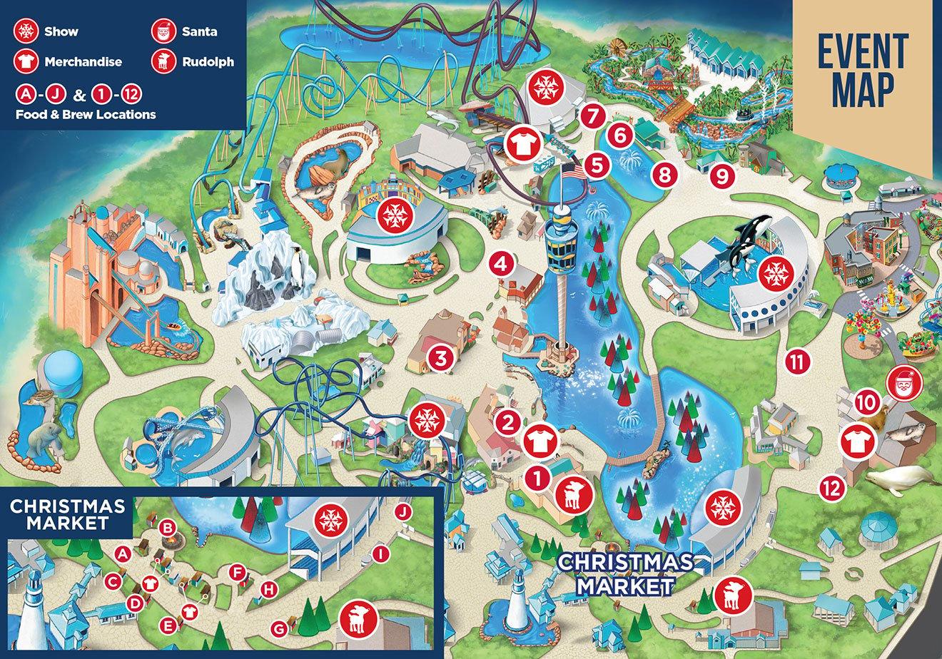 Christmas Celebration Guide Map