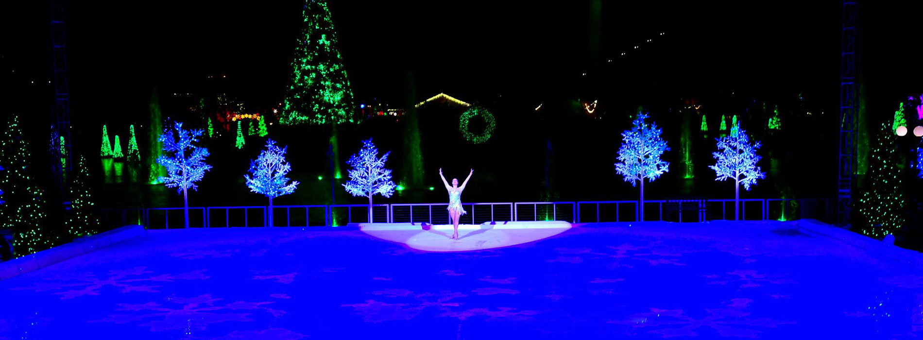 Winter Wonderland on Ice Skater at SeaWorld Orlando