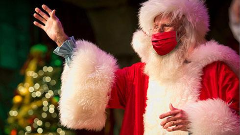 Meet Santa Claus during Christmas Celebration at SeaWorld Orlando