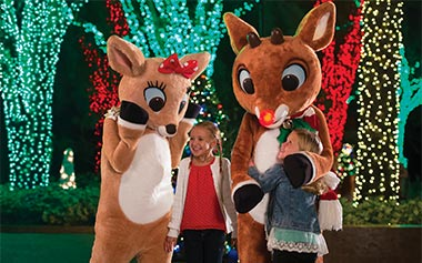 Meet Rudolph the Red-Nosed Reindeer at SeaWorld's Christmas Celebration