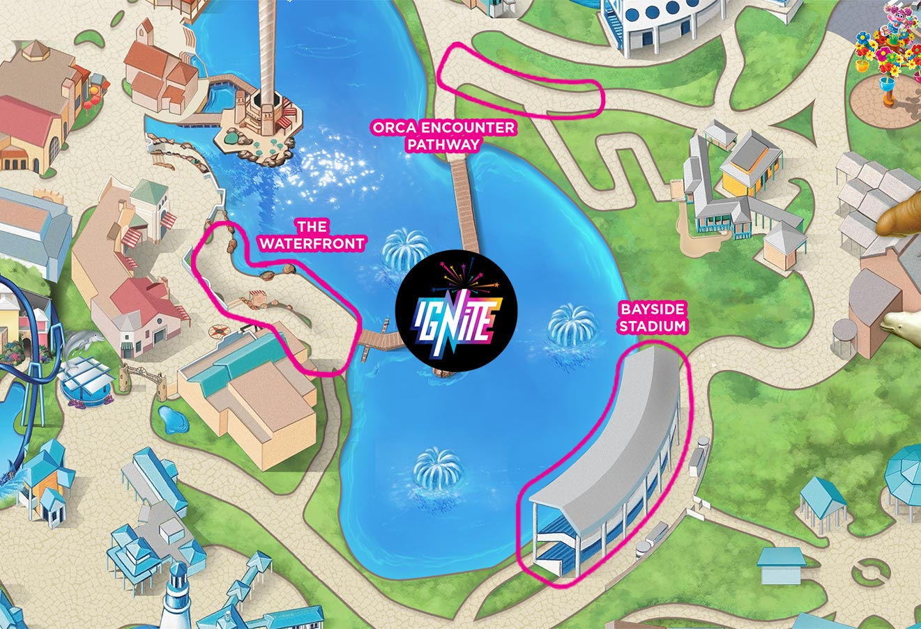 Ignite Fireworks Viewing Map
