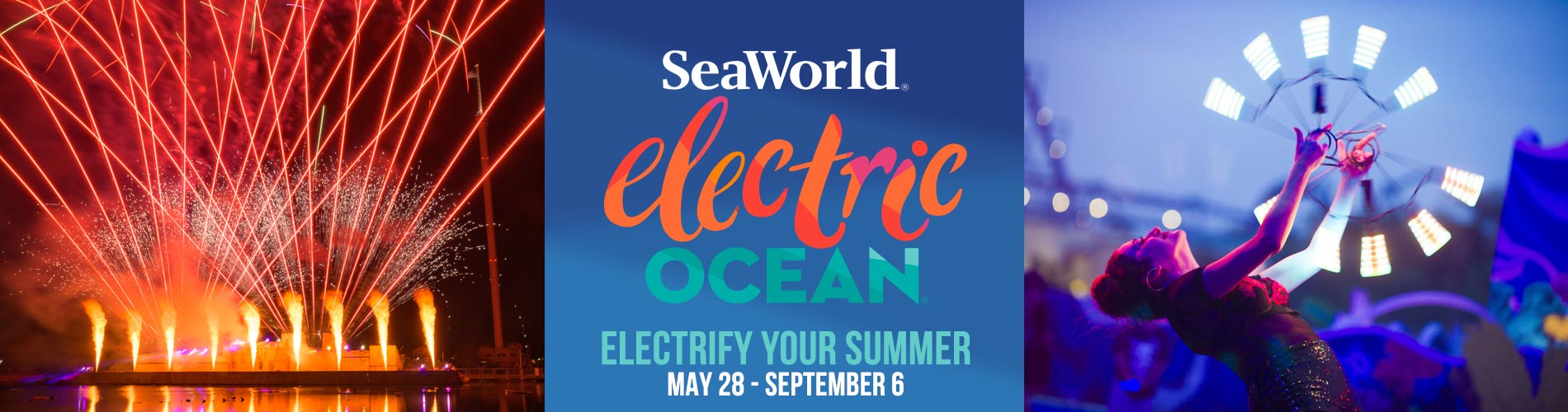 Electrify Your Summer during SeaWorld Electric Ocean