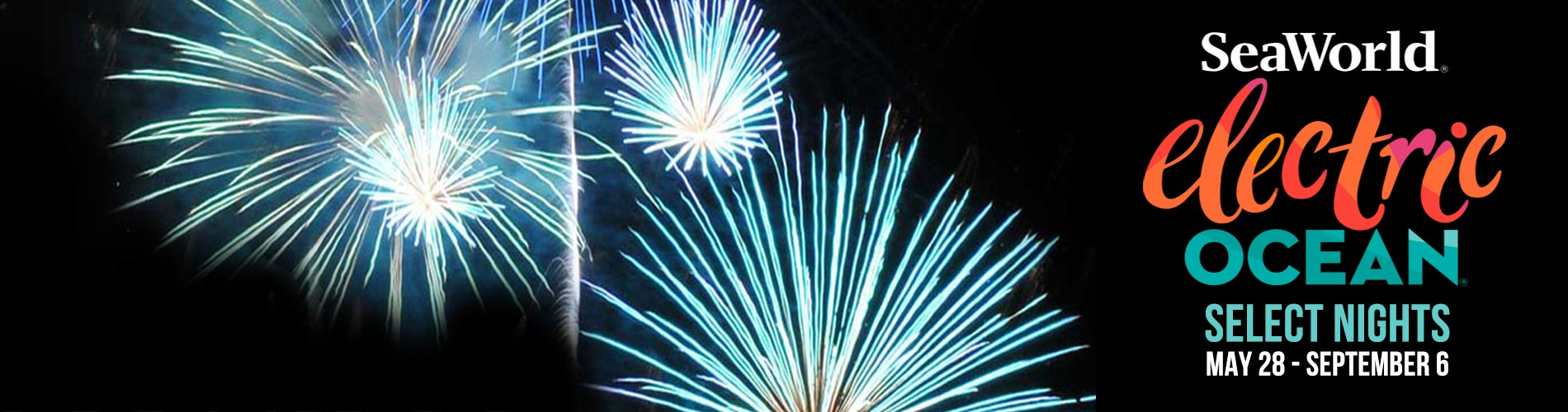 Fireworks during Electric Ocean at SeaWorld Orlando