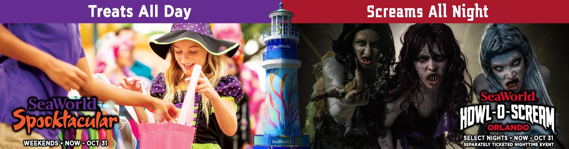 Halloween Spooktacular and Howl-O-Scream at SeaWorld Orlando