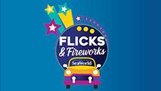 Flicks and Fireworks event at SeaWorld Orlando
