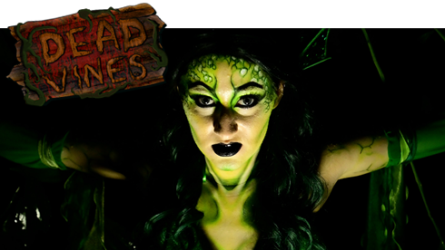 Dead Vines Haunted House during Howl-O-Scream at SeaWorld Orlando