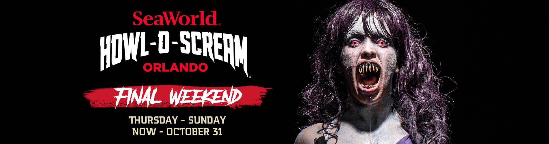 Final Weekend of SeaWorld Orlando Howl-O-Scream