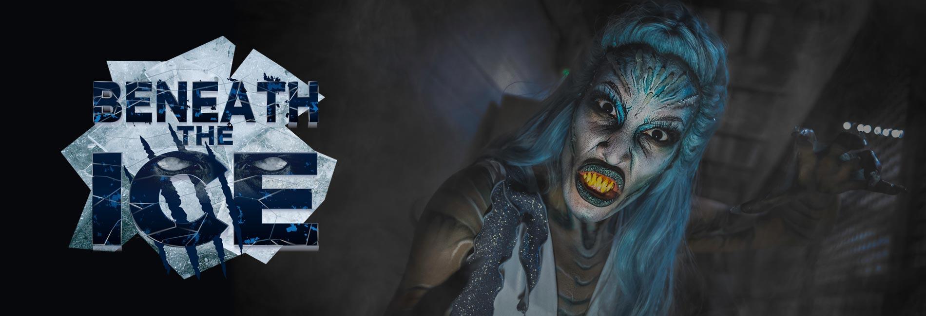Beneath the Ice Haunted House during Howl-O-Scream at SeaWorld Orlando