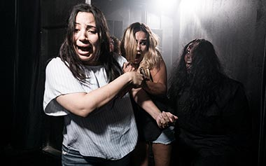 Haunted house scares during SeaWorld Howl-O-Scream