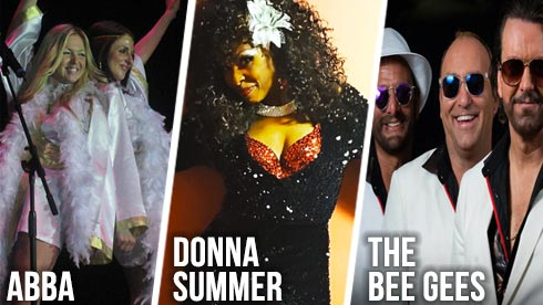 Tribute artists to ABBA Donna Summer Bee Gees