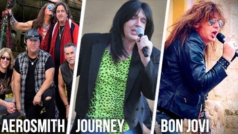 Tribute artists to Aerosmith Journey Bon Joni