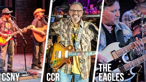Tribute artists to CSNY CCR The Eagles