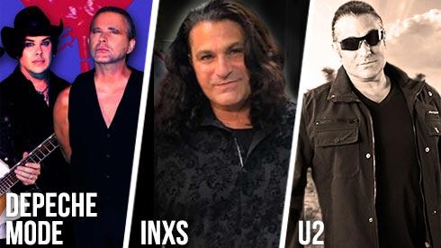 Tribute artists to Depeche Mode INXS U2