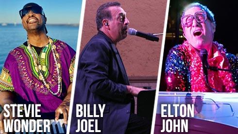 Tribute Artists to Stevie Wonder  Billy Joel Elton John