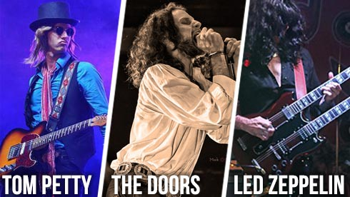 Tribute artists to Tom Petty The Doors Led Zeppelin