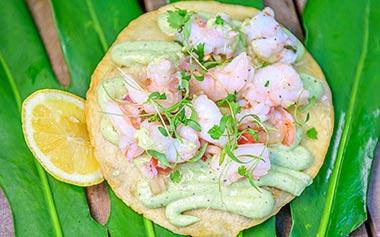 Dunken Shrimp Tostada