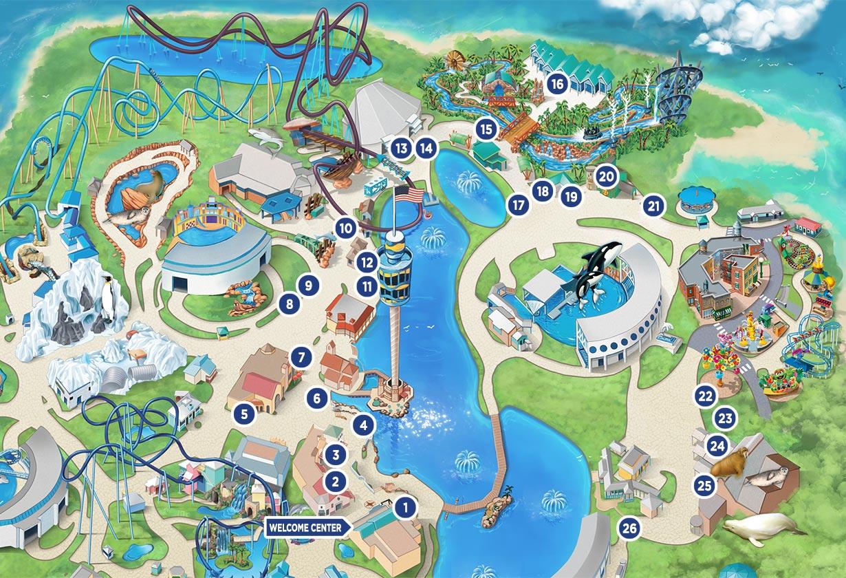 SeaWorld Orlando Seven Seas Food Festival 2021 Event Map
