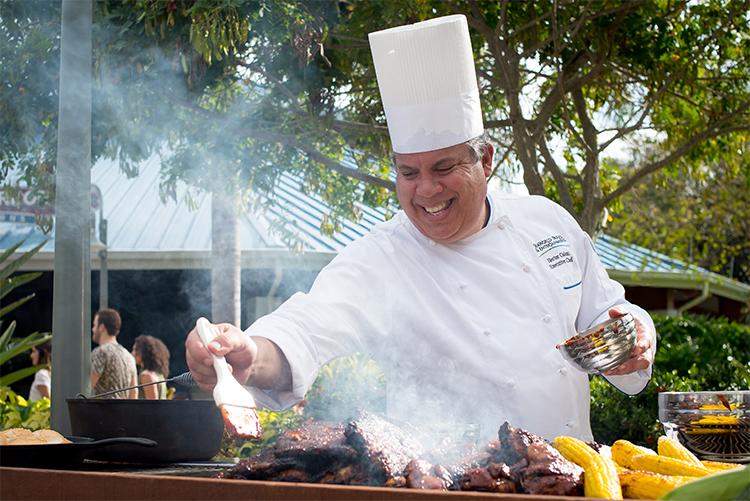 Chef Hector Colon cooks for the Seven Seas Food Festival