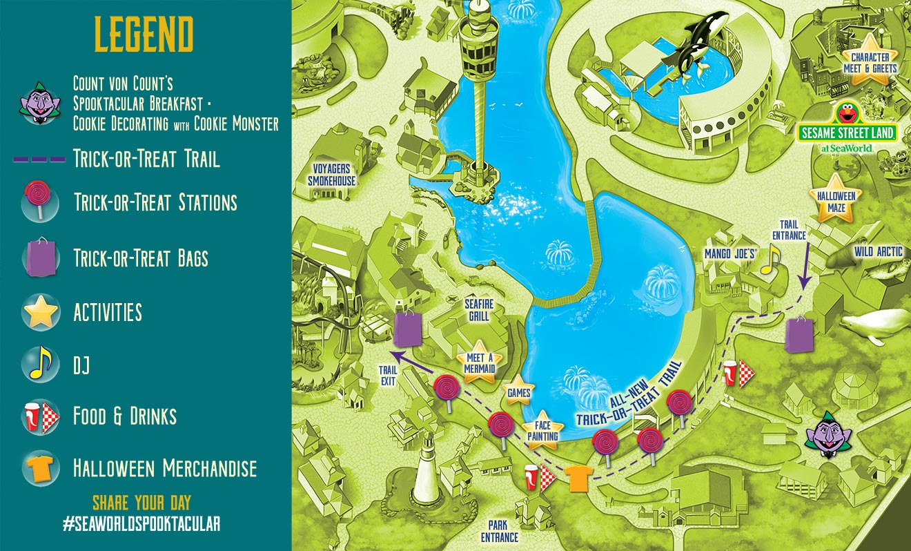 SeaWorld's Halloween Spooktacular Event Map