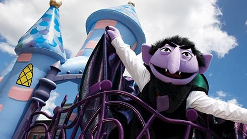 Count von Count on a parade float