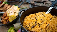 Delicious foods options during Viva La Musica at SeaWorld Orlando