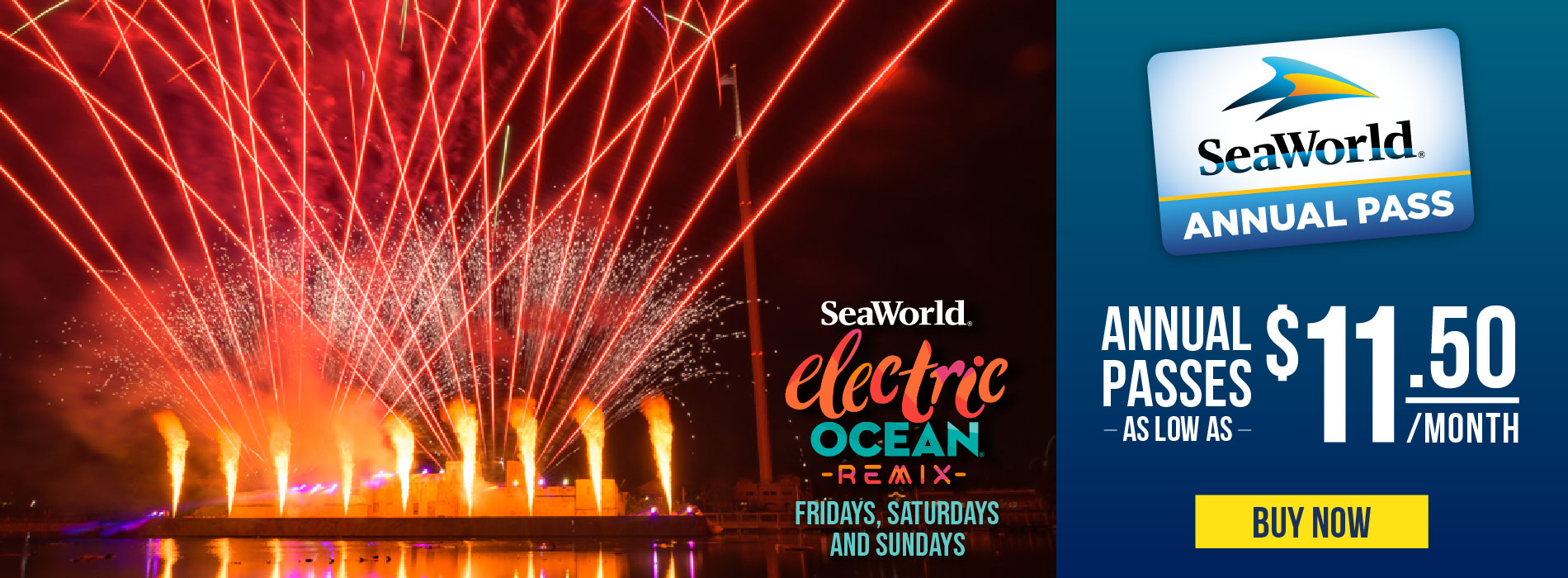 SeaWorld Orlando Annual Pass Electric Ocean