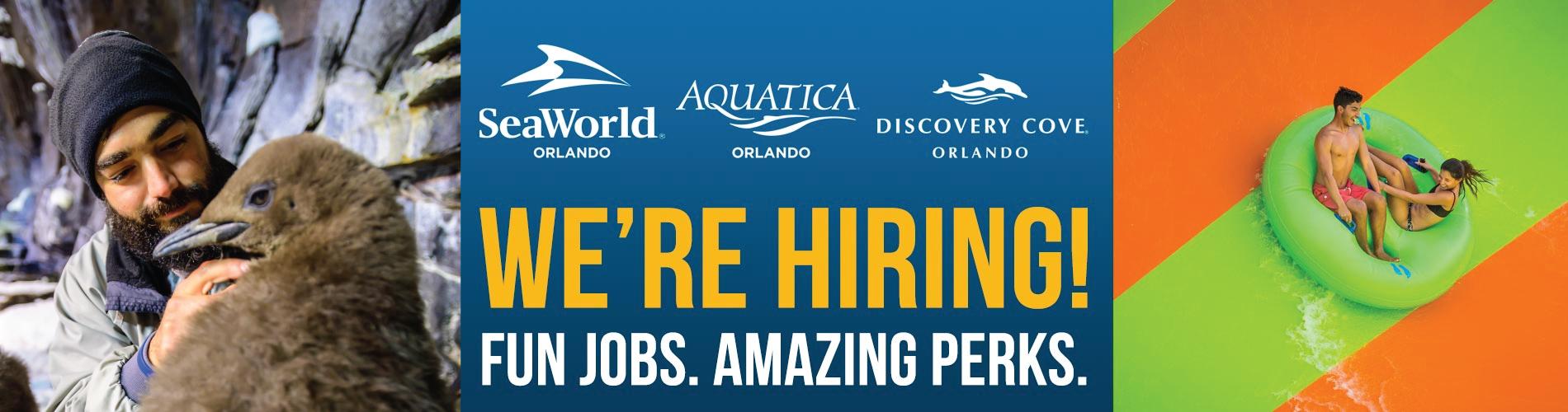We're Hiring! Fun Jobs. Amazing Perks.
