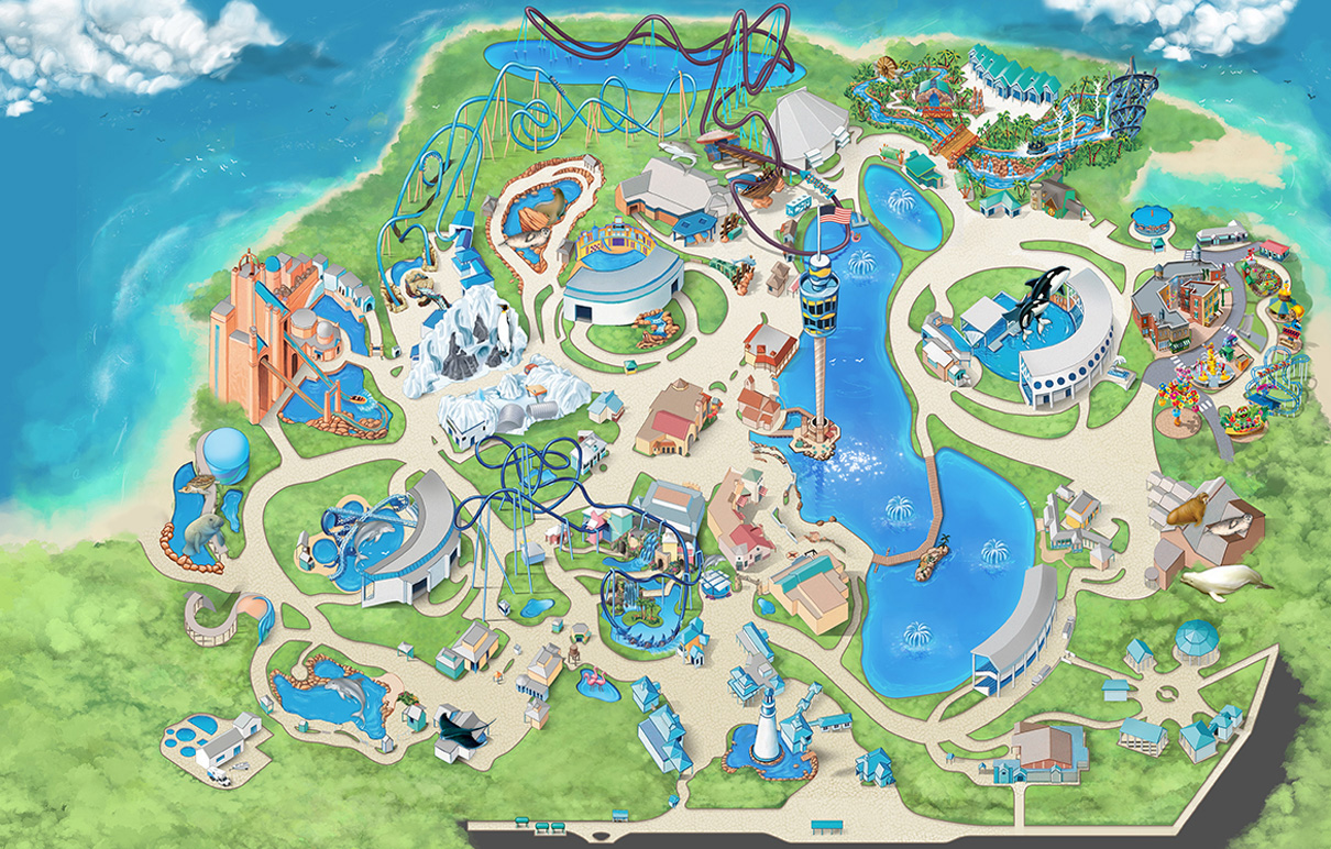 Sea World Florida Map Filter Map