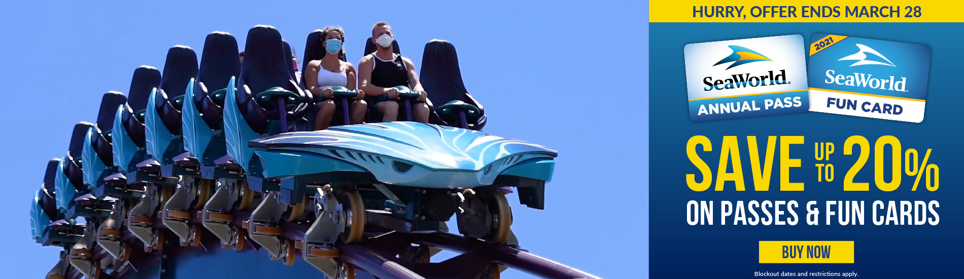 SeaWorld Orlando Save 20% on Passes and Fun Cards