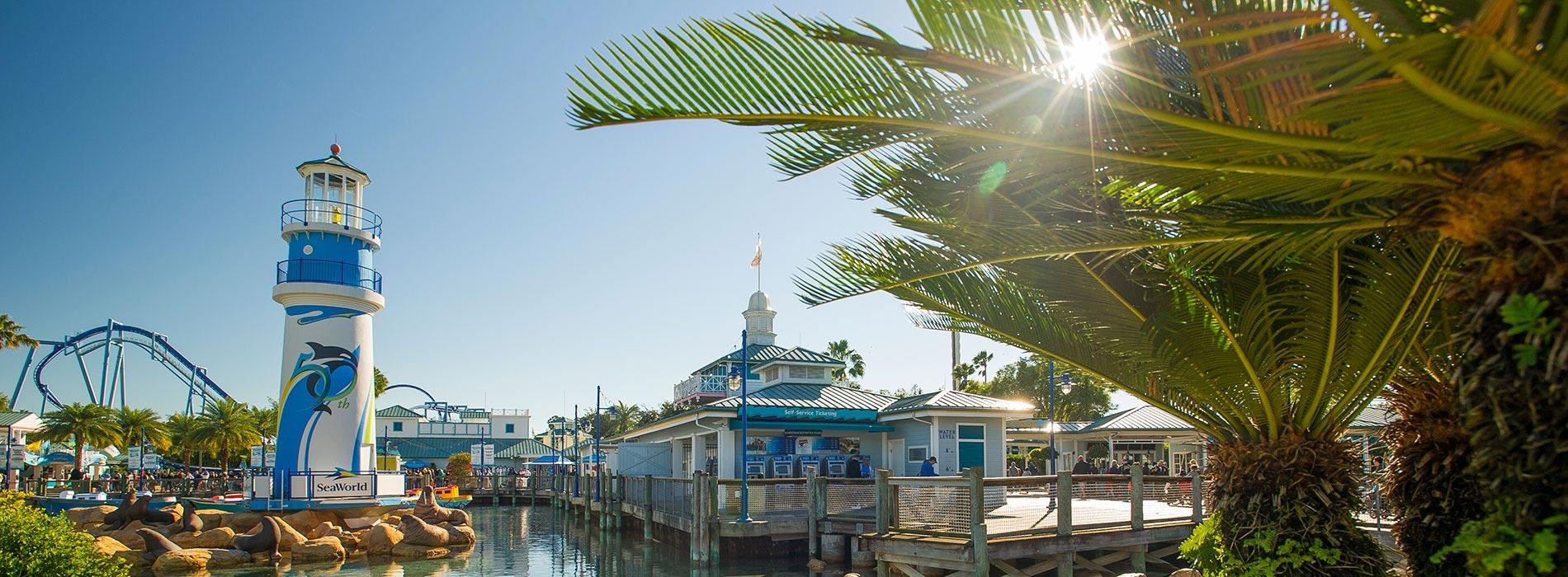 Front entrance of SeaWorld Orlando