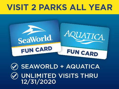 SeaWorld and Aquatica Orlando Fun Card