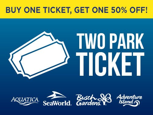 Buy one get one 50% off! Two Park Ticket