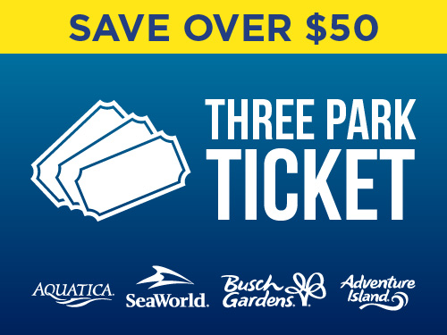 SeaWorld Orlando Florida Parks Three Park Ticket