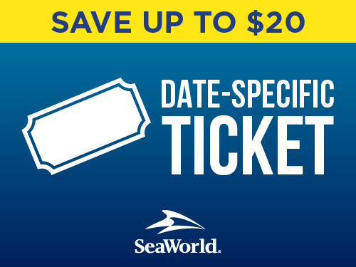 SeaWorld Orlando Single Day Ticket Save up to $20