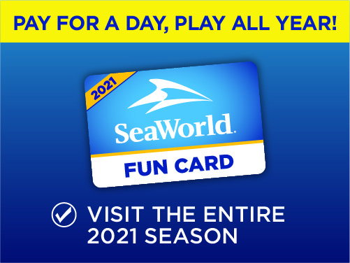SeaWorld Orlando Fun Card Pay for a Day Play All Year