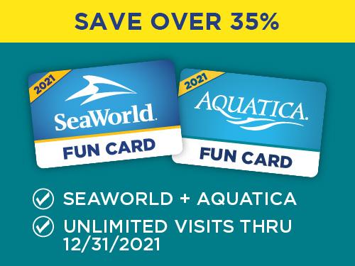 Aquatica Orlando Two Park Fun Card