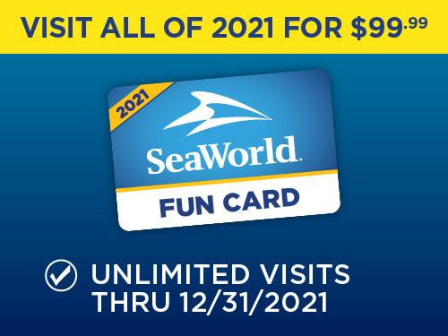 SeaWorld Orlando Fun Card for $99.99