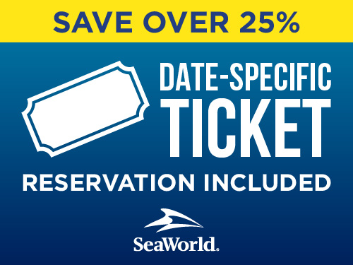 SeaWorld Orlando Ticket Save over 25%