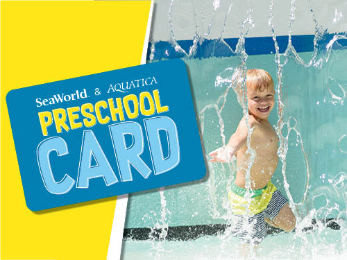 SeaWorld Orlando and Aquatica Orlando Preschool Card