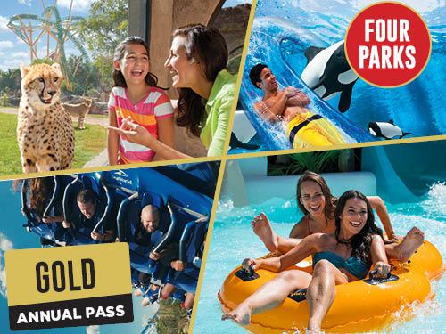 SeaWorld Orlando Aquatica Orlando Busch Gardens Tampa Adventure Island Tampa Four Park Pass