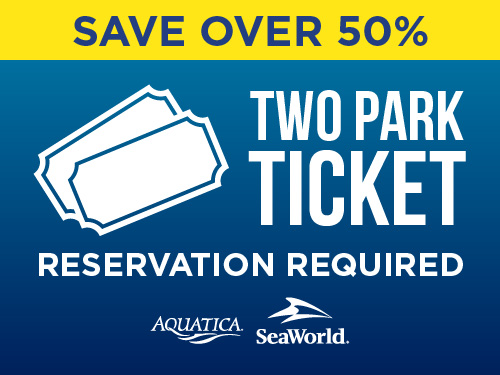 SeaWorld Orlando Black Friday Sale Two Park Ticket