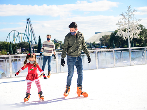 Ice Skating at SeaWorld Orlando
