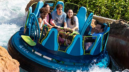 Infinity Falls water ride at SeaWorld Orlando