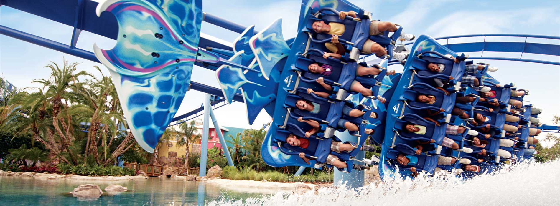 Manta Roller Coaster at SeaWorld Orlando
